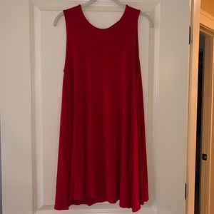 Simple Red T-shirt Dress